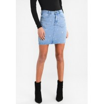 STAR EMBELLISHED SKIRT - Gonna di jeans Missguided blue M0Q21B04U-K11 ZYIGAWR